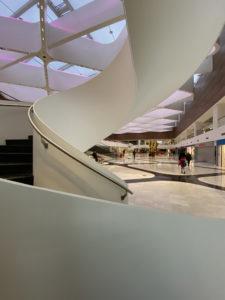 nouvel escalier du mall de Balexert